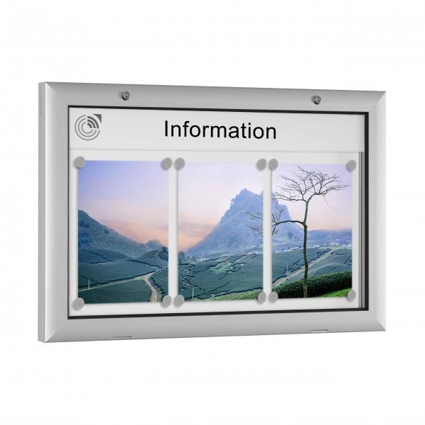 InfoSelect® FLACHSCHAUKASTEN 3 x DIN A4