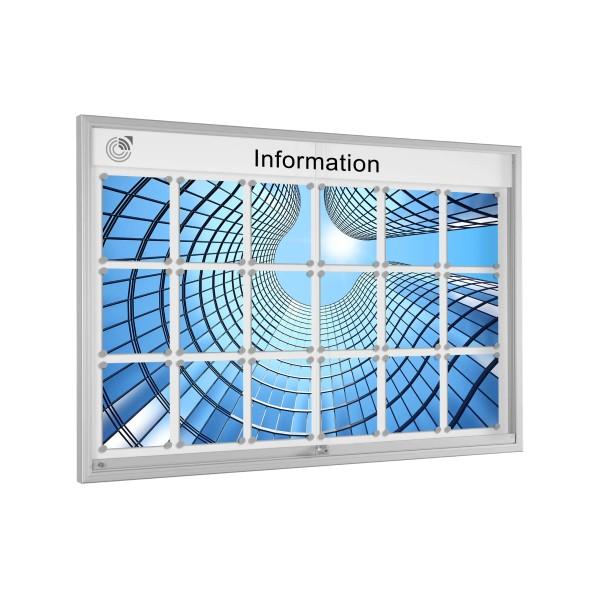 InfoSelect® SCHIEBETÜREN-SCHAUKASTEN 18 x DIN A4