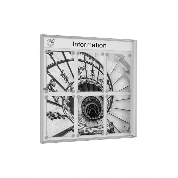 InfoSelect® PREISWERT-SCHAUKASTEN 6 x DIN A4