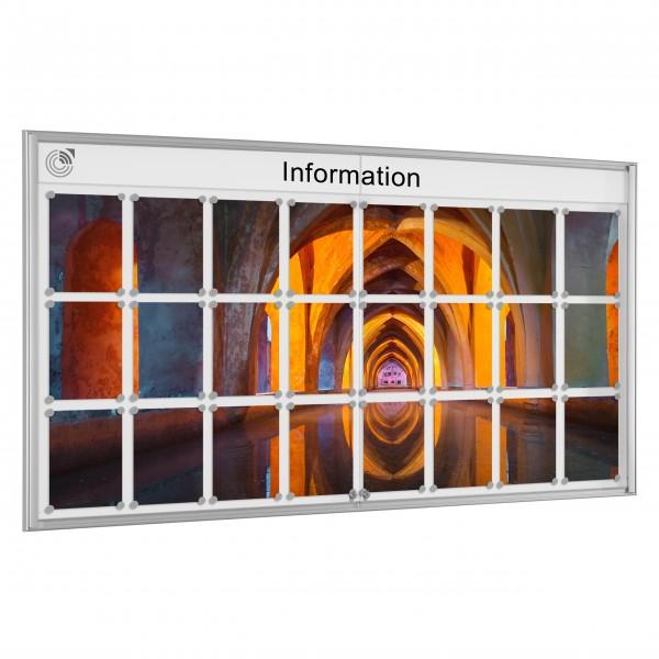 InfoSelect® EINFACH-SCHAUKASTEN 24 x DIN A4