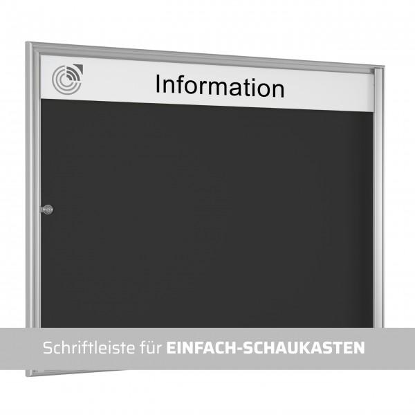 Schriftleiste für EINFACH-SCHAUKASTEN