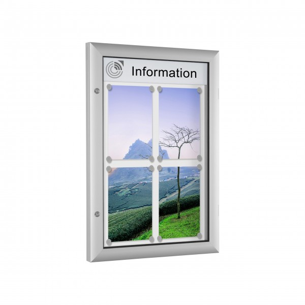 InfoSelect® FLACHSCHAUKASTEN 4 x DIN A4