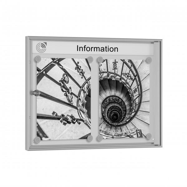 InfoSelect® PREISWERT-SCHAUKASTEN 2 x DIN A4
