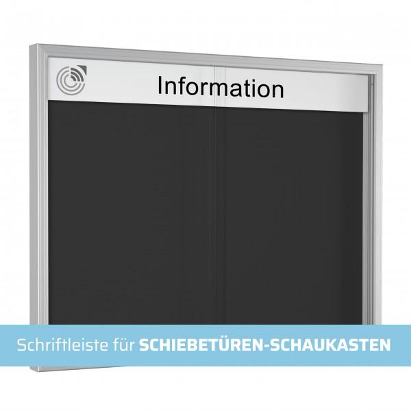 Schriftleiste für SCHIEBETÜREN-SCHAUKASTEN