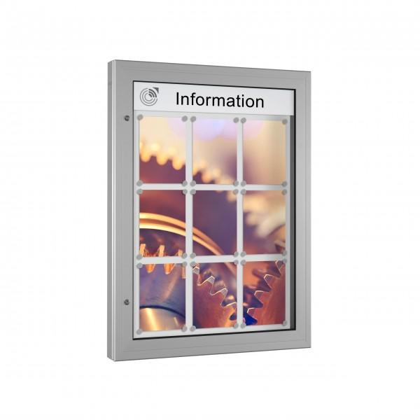 InfoSelect® KANTLINE-SCHAUKASTEN 9 x DIN A4