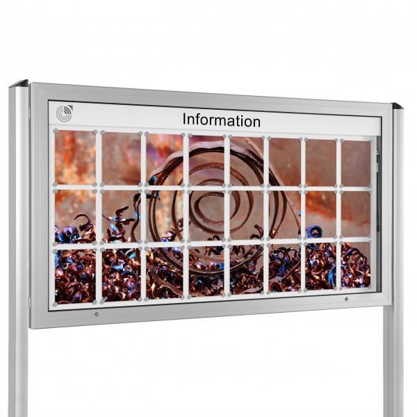 InfoSelect® KANTLINE-SCHAUKASTEN mit Ständern 24 x DIN A4