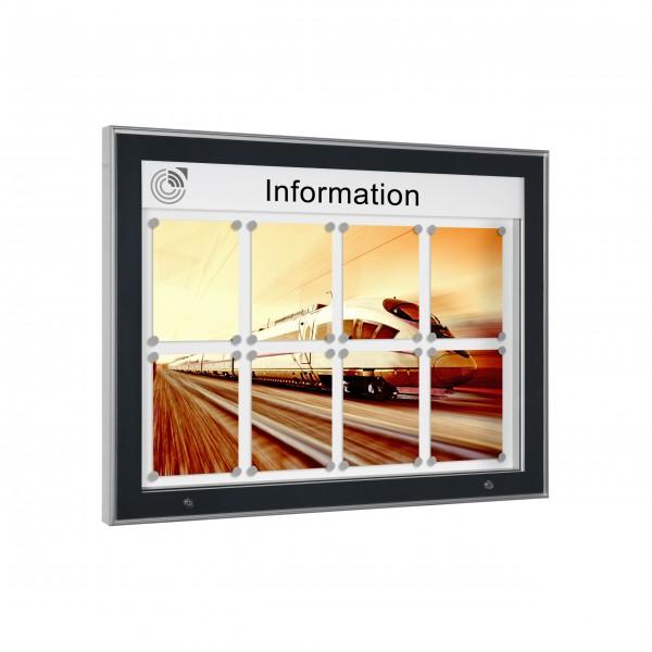 InfoSelect® CARAT-SCHAUKASTEN 8 x DIN A4