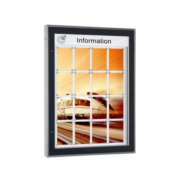 InfoSelect® CARAT-SCHAUKASTEN 16 x DIN A4