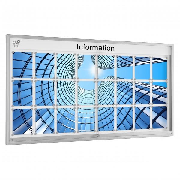 InfoSelect® SCHIEBETÜREN-SCHAUKASTEN 24 x DIN A4