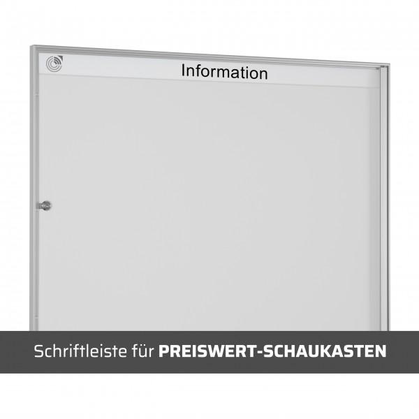 Schriftleiste für PREISWERT-SCHAUKASTEN