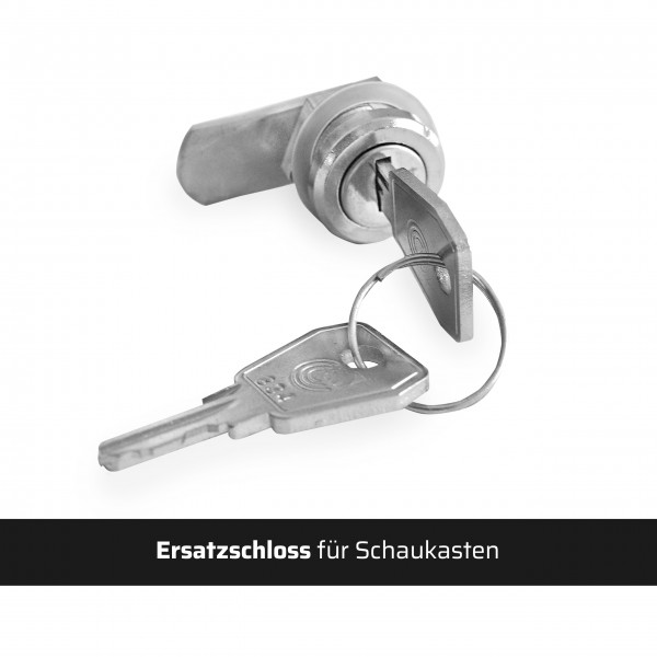 Ersatzschloss für Schaukasten inkl. 1 Paar Schlüssel