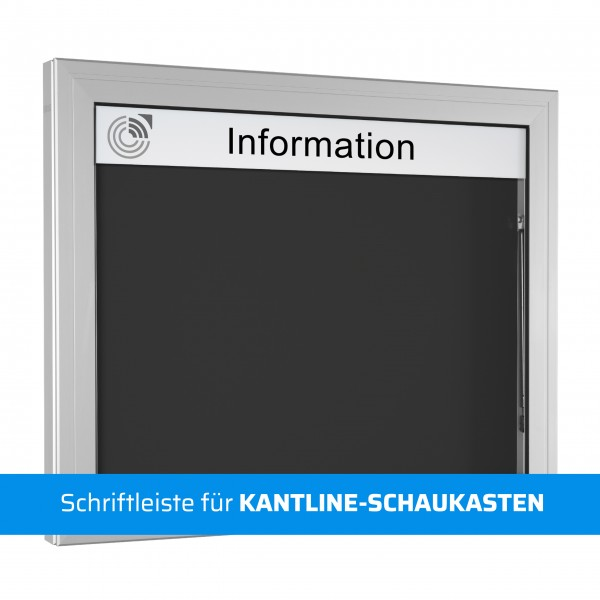Schriftleiste für KANTLINE-SCHAUKASTEN