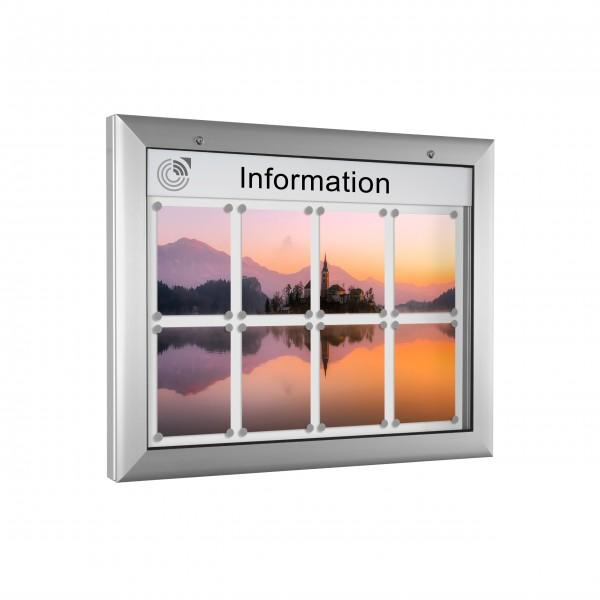 InfoSelect® SOFTLINE-SCHAUKASTEN 8 x DIN A4