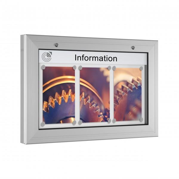 InfoSelect® KANTLINE-SCHAUKASTEN 3 x DIN A4