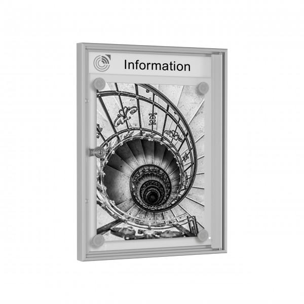 InfoSelect® PREISWERT-SCHAUKASTEN 1 x DIN A4
