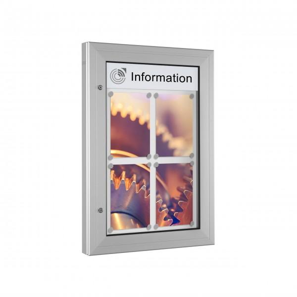 InfoSelect® KANTLINE-SCHAUKASTEN 4 x DIN A4
