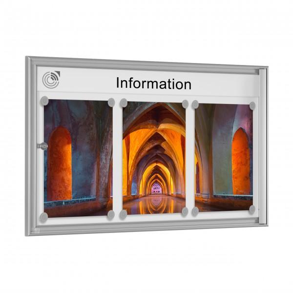 InfoSelect® EINFACH-SCHAUKASTEN 3 x DIN A4