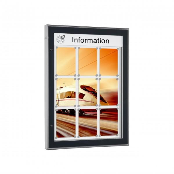 InfoSelect® CARAT-SCHAUKASTEN 9 x DIN A4