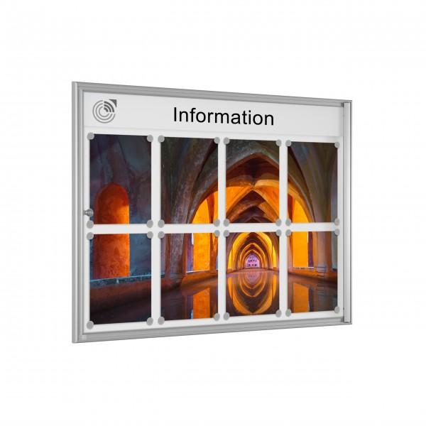 InfoSelect® EINFACH-SCHAUKASTEN 8 x DIN A4