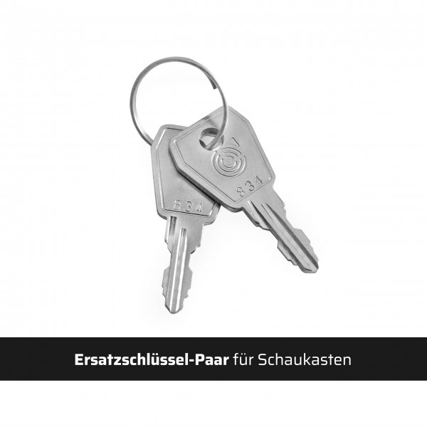 Ersatzschlüssel-Paar für Schaukasten